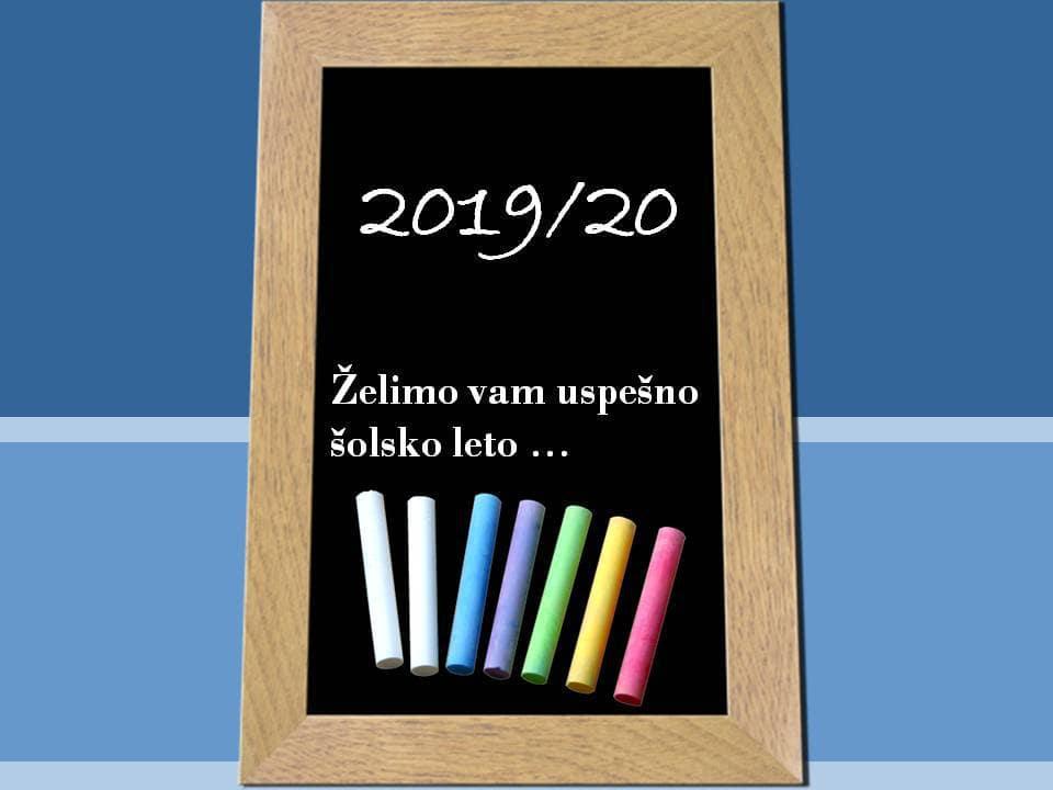 Novo šolsko leto 2019/2020